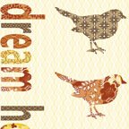 Songbird Panel Yellow/Multi
