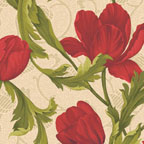 Tulip Scroll Red