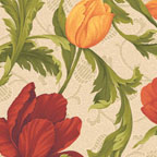 Tulip Scroll Red Multi