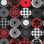 Paw Dots Black