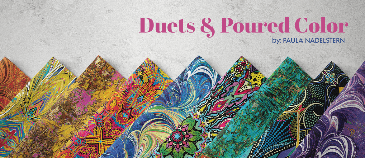 Duets and Poured Color by Paula Nadelstern